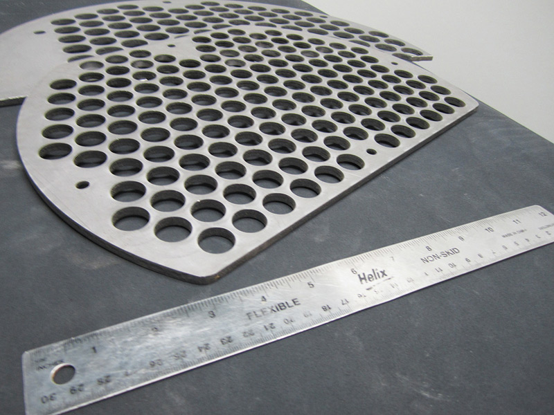 Stamping Of A Steel Baffle For The Hvac Industry